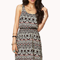 Clear Cut Tribal-Style Dress