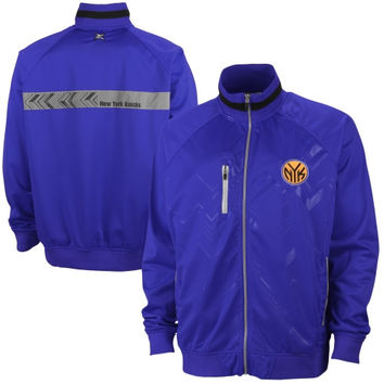 New York Knicks Mens Lawrence Poly Tricot Full Zip Jacket – Royal Blue