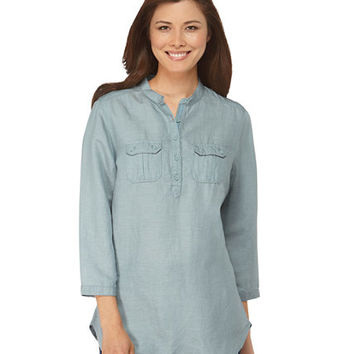 Women's Tencel/Linen Pullover Shirt: Tees and Tops | Free Shipping at L.L.Bean