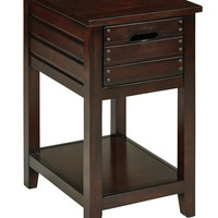 Office Star Camille Side Table in Walnut Finish [CML08AS-WA]