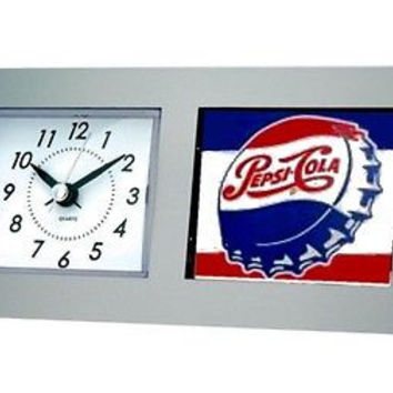 classic retro logo Pepsi Cola Bottle Cap Desk Table Clock