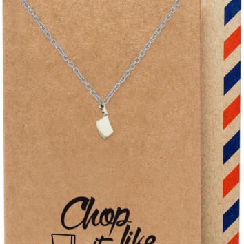 Ali Gifts for Mom, Dad, Chef, Cook Knife Necklace Funny Birthday Cards