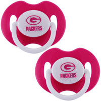 Green Bay Packers 2-Pack Team Logo Pacifiers - Pink