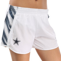 Dallas Cowboys Nike Women's Warpspeed Pacer Performance Shorts - White