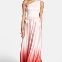 Ted Baker London Single Shoulder Ombre Maxi Dress