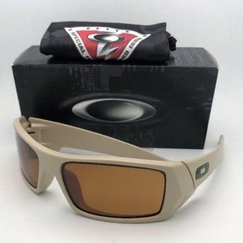 OAKLEY Sunglasses GASCAN 11-015 60-15 Desert with Bronze Lenses and US FLAG Logo