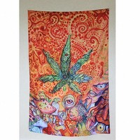 Trippy Weed Tapestry