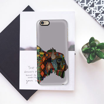bison heather gray iPhone 6s case by Sharon Turner | Casetify