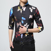 Luxury Butterfly Dress Shirt