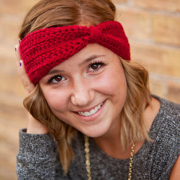 Turban Headband- Cranberry Red or Choose your Color