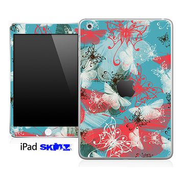 Abstract Color Butterfly V2 Skin for the iPad Mini or Other iPad Versions