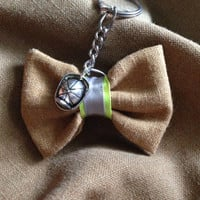 Bunker Gear Keychain Bow With Charm
