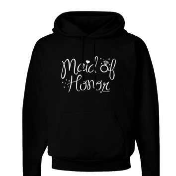 Maid of Honor - Diamond Ring Design Dark Hoodie Sweatshirt