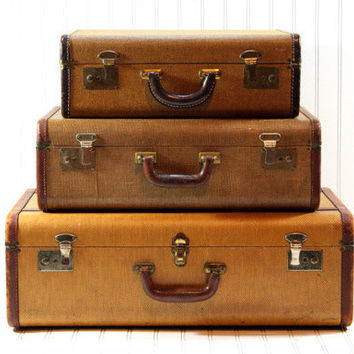 Shop Vintage Suitcase on Wanelo