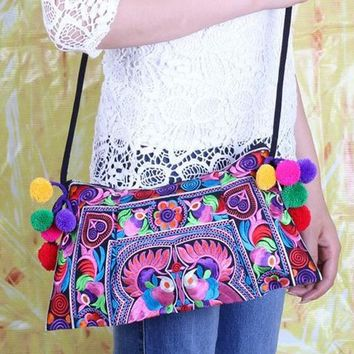 Fashion  Embroidery bag small  trend handmade fabric embroidered one shoulder cross-body women's