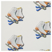 Figure Skates And Skates Guards With Your Name Fabric
