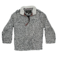CHILD'S Frosty Tip 1/4 Zip Pullover in Charcoal by True Grit