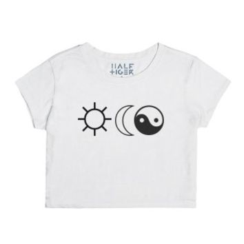 The Sun, The Moon, The Truth-Female Snow T-Shirt