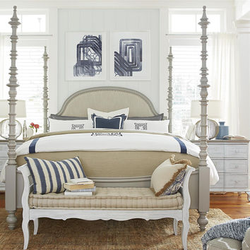 Paula Deen Dogwood Cal King Poster Bed - Cobblestone Finish