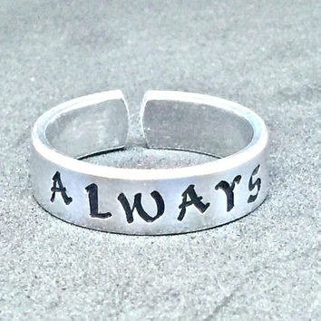 Always Ring - Magic Book Inspired Gift Under 20 - Inspirational Gift