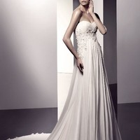 Wholesale A-Line Sweetheart Floor-Length Gown with Chiffon Style Eleanor for $189.00 from China : IndeedBuyer.com.  - IndeedBuy
