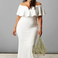 Plus Size Flounce Maxi Dress