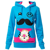 David And Goliath Donut Monster Hoodie (Blue) | Blue Banana UK