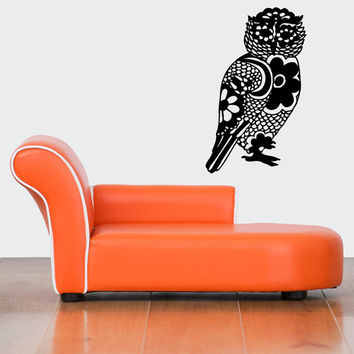 Wall Decal Vinyl Sticker Room Tattoo Decor Fun Abstract Decorative Floral Owl Bird 1374