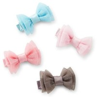 4-Pack Chiffon Baby Hair Clips