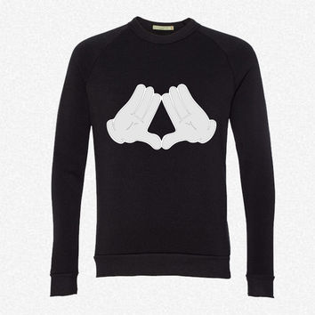 Mickey Mouse Diamond Hands fleece crewneck sweatshirt