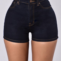 All The Way Up Shorts - Indigo
