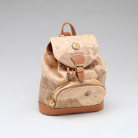 Vintage Style Map Pattern Backpack