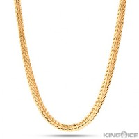 3mm Men's Yellow Gold Plated Hip Hop Franco Chain