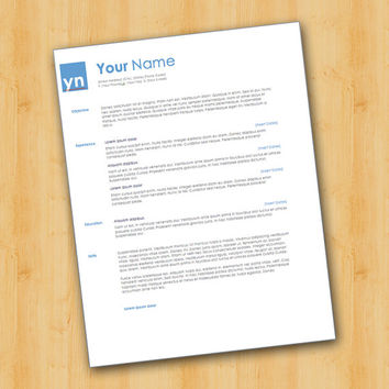 Professional Resume Template - Easy to Edit - Microsoft Word Format - Entry Level to Professional
