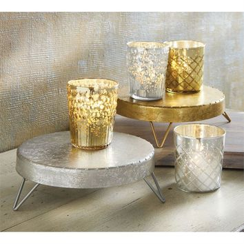 Collapsible Stand Silver or Gold by Mud Pie