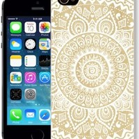 ChiChiC Iphone Case, i phone 5g 5 5s case, Iphone5 Iphone5s covers, plastic cases back cover skin protector,geometric white mandala wood grain