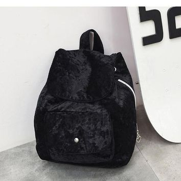 Cool Backpack school JIANXIU Fashion Corduroy Backpack Women Backpack Bag Student Backpack Cool Girl Backpack AT_52_3