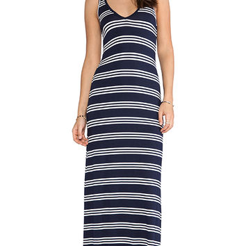 Feel the Piece V Maxi Dress in Navy