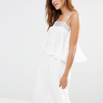Missguided | Missguided Crochet Trim Swing Cami Top at ASOS