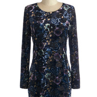 ModCloth Mid-length Long Sleeve Bodycon Never Velvet This Way Dress
