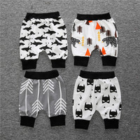 Pure Cotton Abstracet Print Croped Leggings for Baby