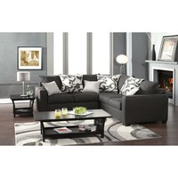 CRANBROOK Charcoal Gray Sectional Sofa - Made in USA