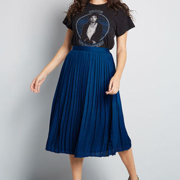 Beautifully Upbeat Midi Skirt