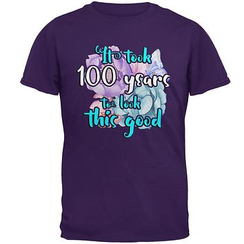 Milestone Birthday 100 Years To Look This Good Flowers Mens T Shirt