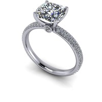 Customize Your Ring - Engagement Ring Forever One Colorless Moissanite and Diamonds