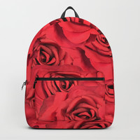 Radical Red Roses Backpack by deluxephotos