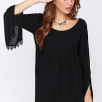 Lucy Love Emily Black Long Sleeve Dress