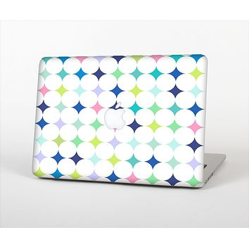 The Vibrant Fun Colored Pattern Hoops Inverted Polka Dot Skin Set for the Apple MacBook Air 11""