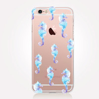 Transparent Seahorse iPhone Case - Transparent Case - Clear Case - Transparent iPhone 6 - Gel Case - Soft TPU Case - Samsung S7