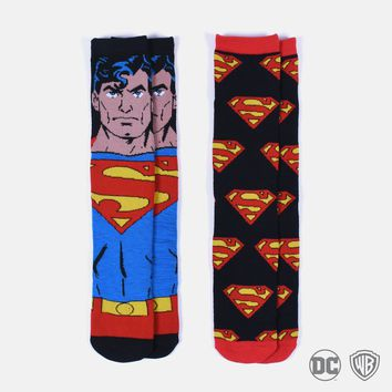 Superman Dual Pack Soft socks
